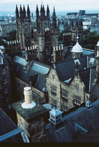 The roof tops of Edinburgh