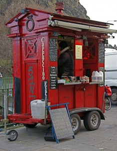 Edinburgh Police Box converted into coffee hut