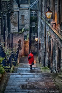 Stairway, Edinburgh, Scotland, United Kingdom