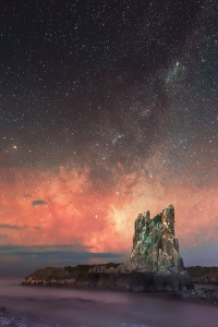 Milky Way over Cathedral Rocks,  Kiama Downs, New South Wales, Australia