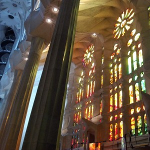 Sagrada Familia inside, Barcelona, Catalonia, Spain