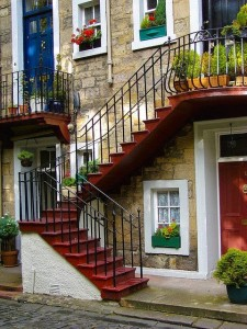 Ramsay Stairs, Edinburgh, Scotland, United Kingdom