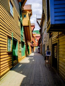 Wooden Street, Bergen, Norway