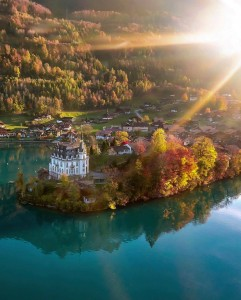 Seeburg Castle, Lake Brienz, Iseltwald, Switzerland