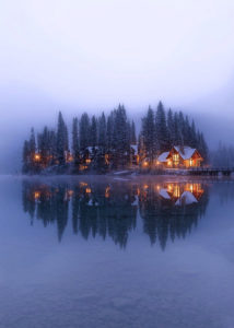 Misty morning at Emerald Lake, California