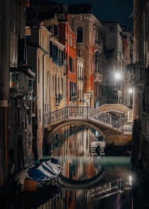 Before dawn,  Venice, Italy